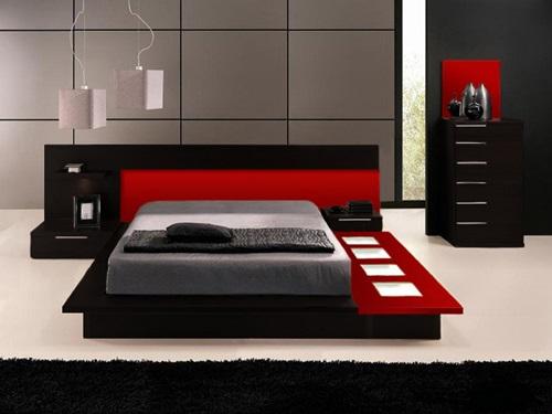 Mobili neri per la stanza da letto for Mobili stanza letto