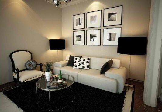 Consigli per arredare un soggiorno piccolo for Minimalist apartment living room