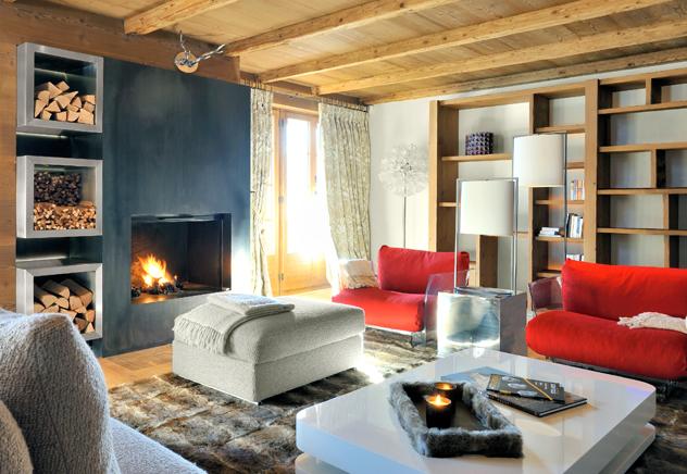 Lo stile chalet il calore che ti avvolge for Arredamento moderno ma caldo