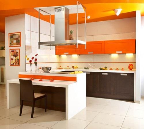 L 39 arancione in cucina arredare con il colore del sole - Colore pittura cucina ...