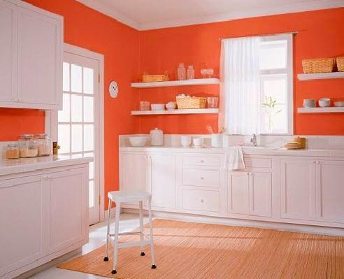 L\'Arancione in cucina. Arredare con il colore del Sole!