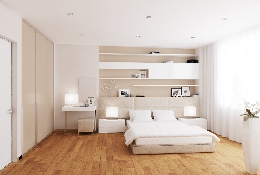 ... idea 22 : Puro ed essenziale arredare la camera da letto con il bianco