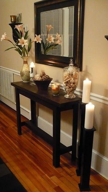 Small Black Foyer Table : Corridoio stretto e lungo come lo arredo