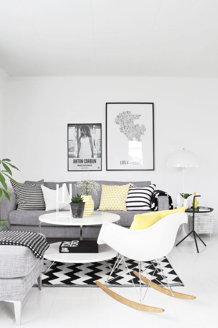 Bianco e nero il living bicolor - Deco salon zwart wit ...