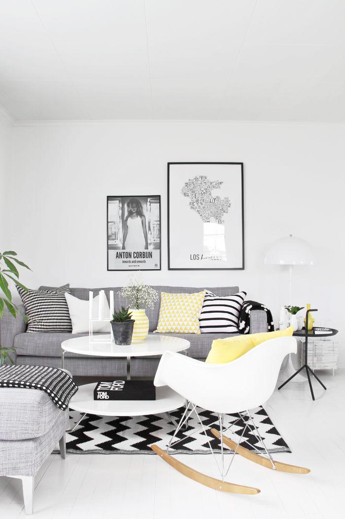 Bianco e nero il living bicolor - Lamparas para salon modernas ...