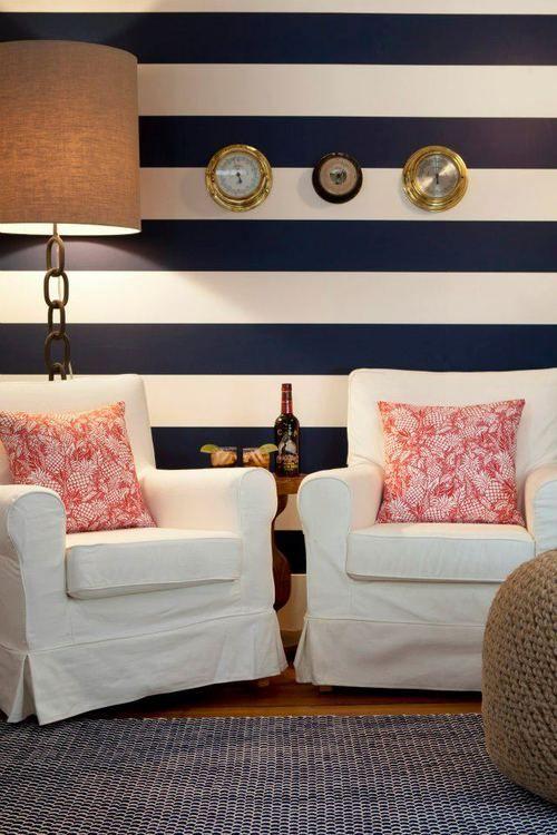 La casa in stile marinaro for Tessuti arredo stile marina